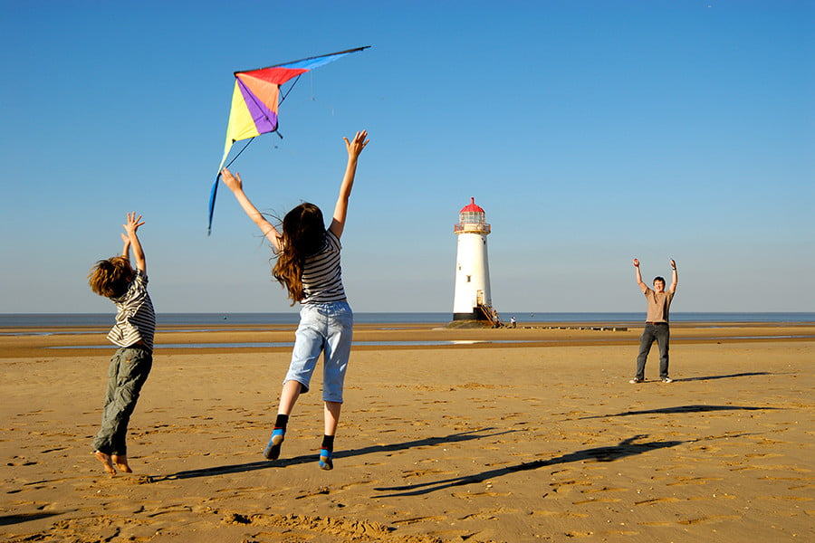 Kites at Talacre -  Credit Flintshire Council