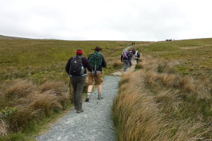 Starting the incline of Whernside