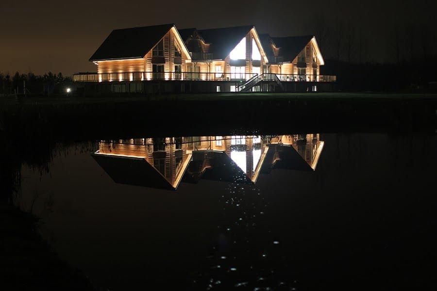 Pine Lake at Night