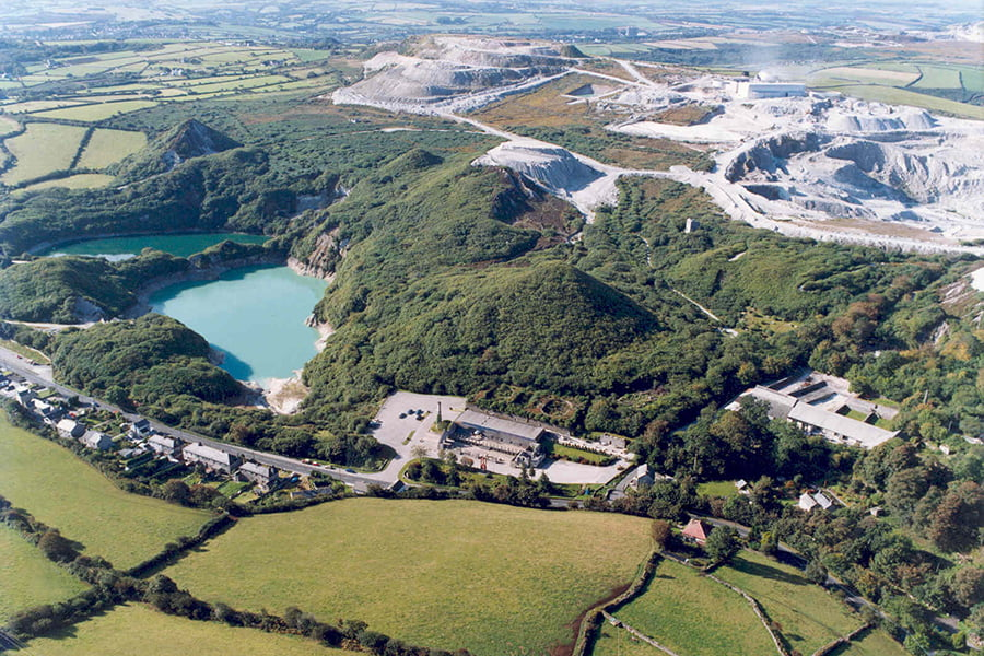 Wheal Martyn - Aerial View
