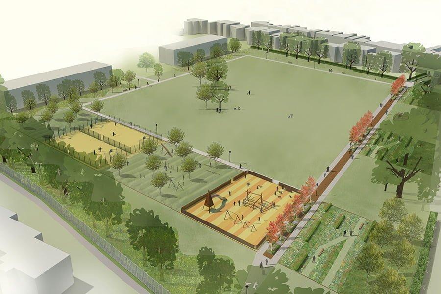 Elms Park Aerial View