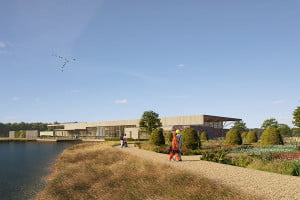 RHS Bridgewater - CGI Welcome Building lake
