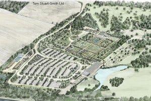 Illustrative Masterplan Aerial View TSS