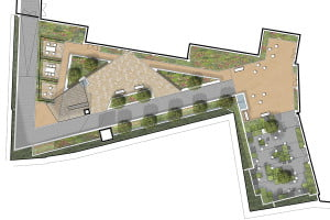 Courtyard sketch plan