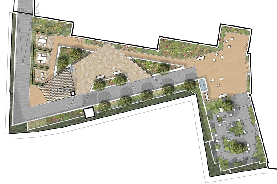 Courtyard sketch plan