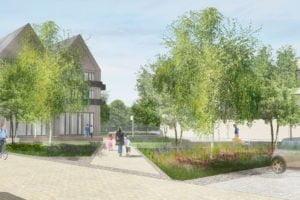 Wolvercote Paper Mill village square
