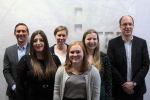 From left: Juan Murray, Sarah Grady, Lindsey Huxley, Louise Chadwick, Laura D'Henin, Ross Allan