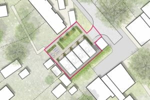 Proposed masterplan for Dundee Close in Cambridge
