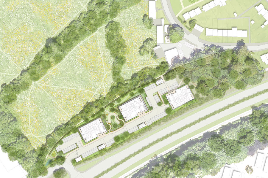 Illustrative masterplan for the Paradise Fields development.