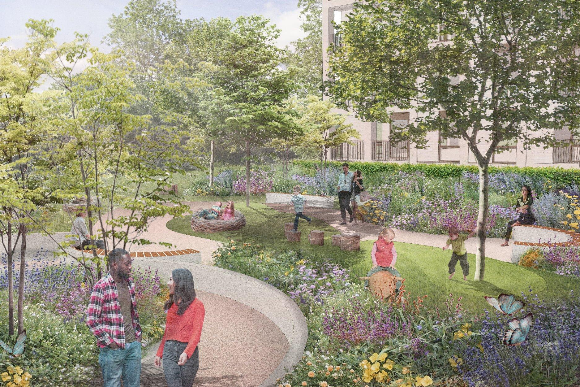 Landscape Design proposals for the Paradise Fields development.