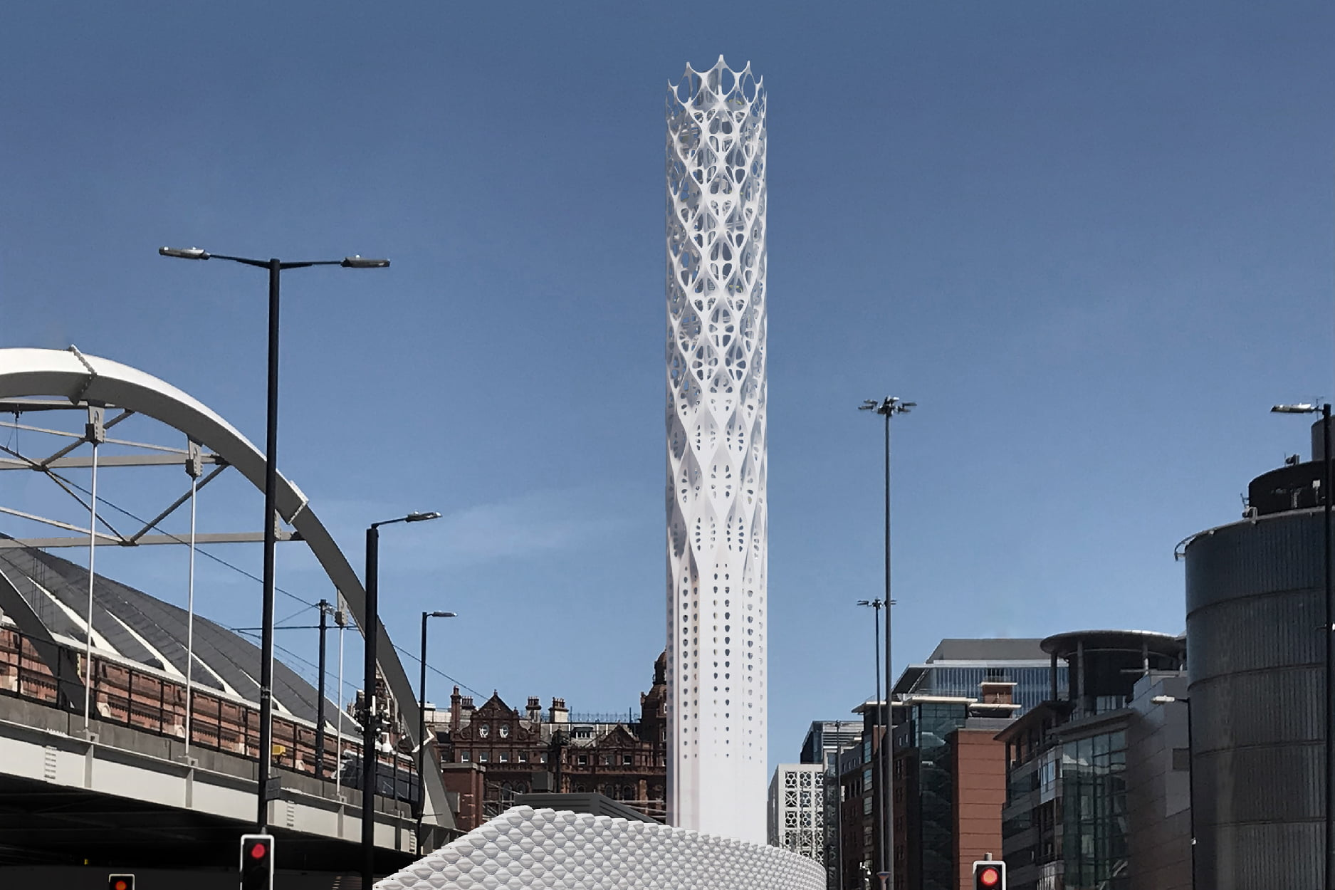 Digital render of the finished tower, image credit Tonkin Liu