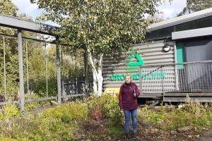 TEP's Landscape Manager Valerie Jennings at Trafford Ecology Park.