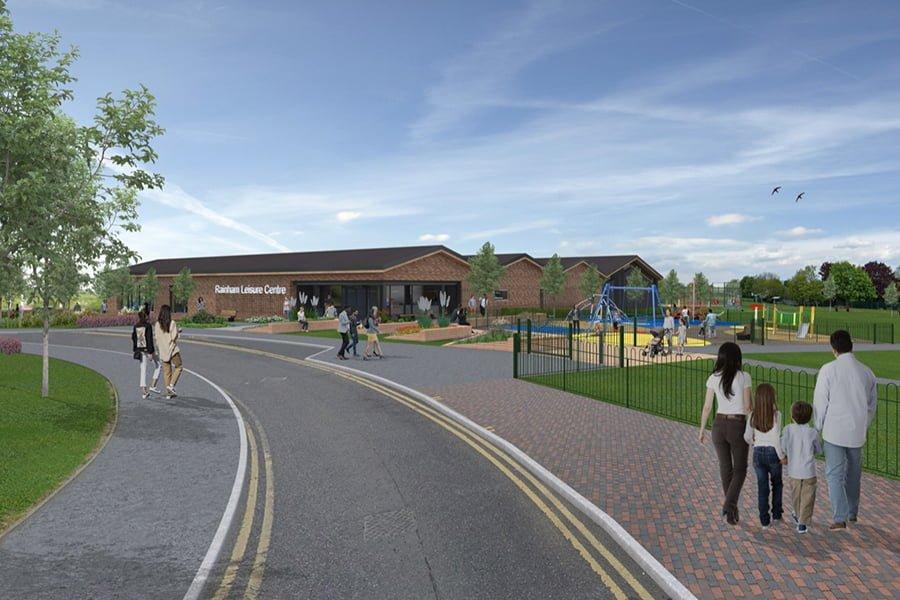 Leisure Centre and Community Park in Rainham CGI - Credit_Attic Agency Ltd