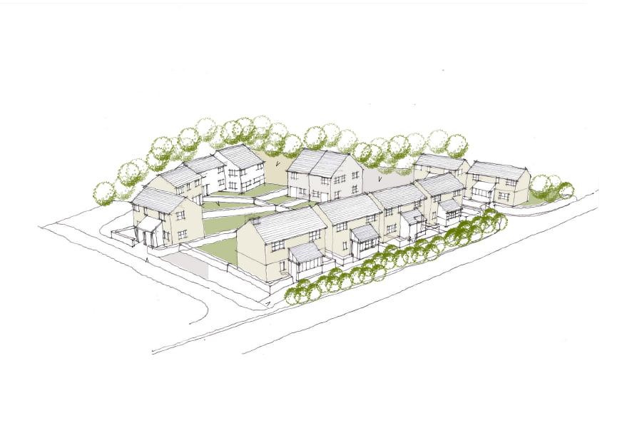 Masterplan for Ennor Farm - Image Credit ALA Architects Residential Development in the Isles of Scilly